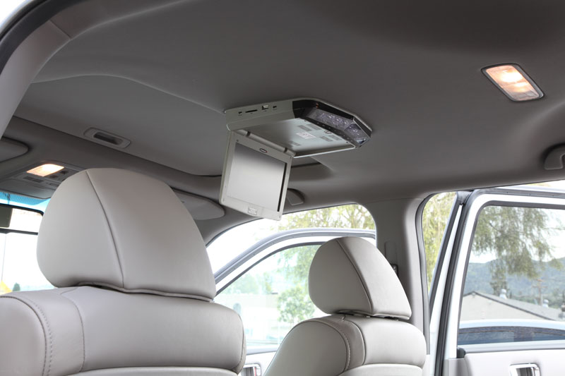 Learn how to install a DVD overhead monitor in a Honda Pilot with Sunroof