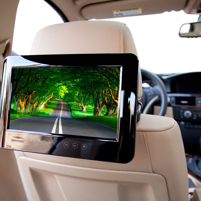 Headrest DVD players for Active Headrests