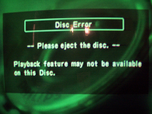 DVD Disc error