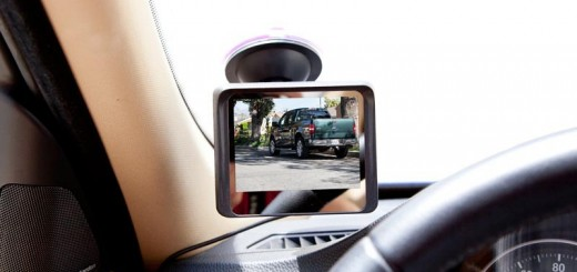 Suction cup monitor for back up camera