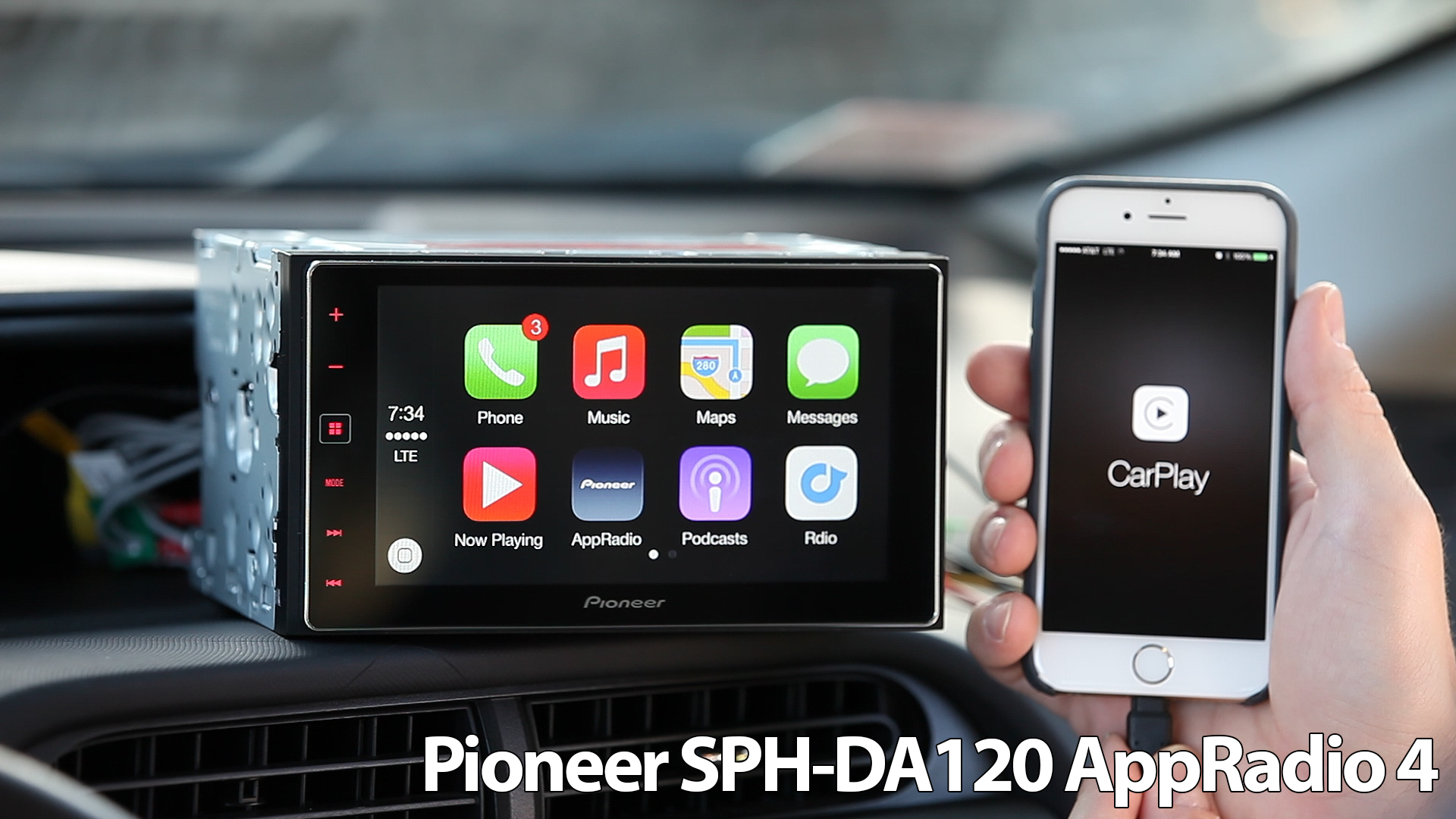 Thumb Title on Pioneer Car Radio