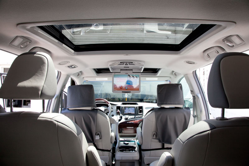 Overhead Dvd Player In A 2011 Toyota Sienna With Dual Sunroofs on toyota tundra dvd