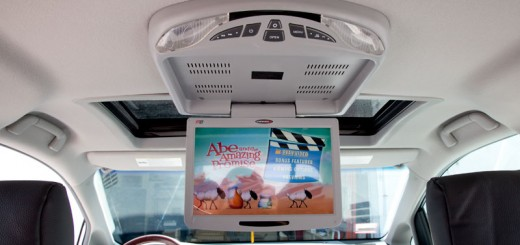 overhead dvd player installation