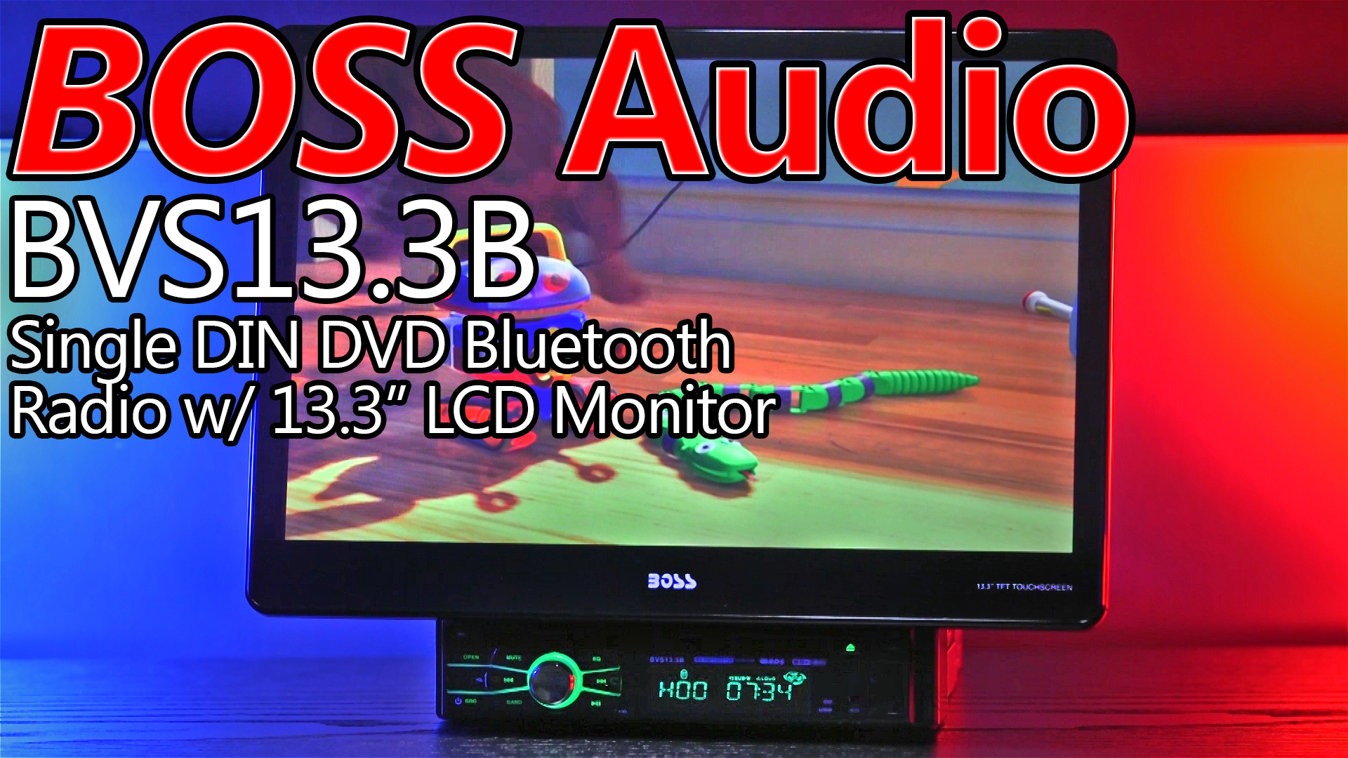 Boss Audio BVS13.3B 13.3″ Single DIN Car Stereo