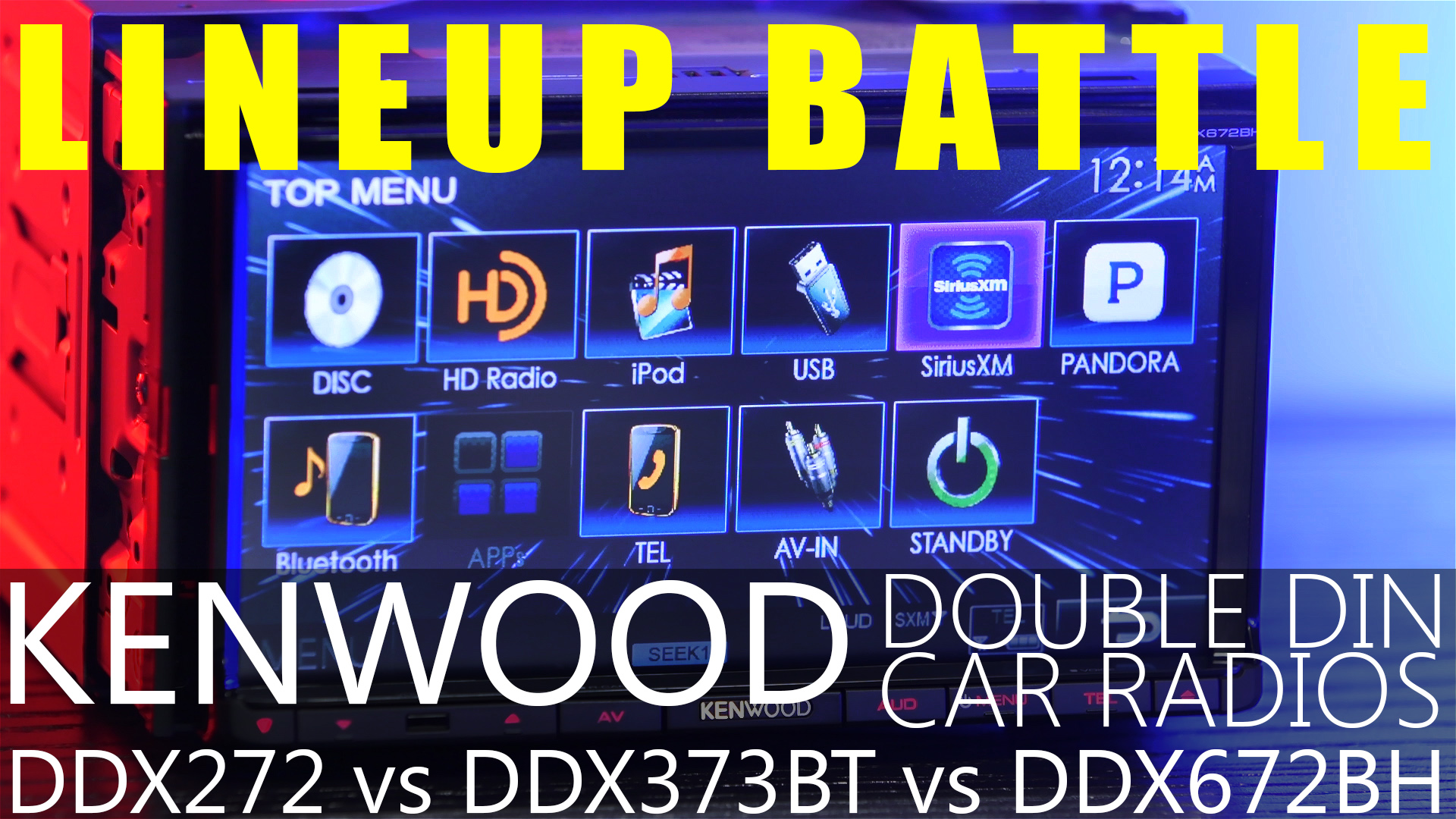 Kenwood DDX272 vs. DDX372BT vs. DDX672BH :: Double DIN line up battle