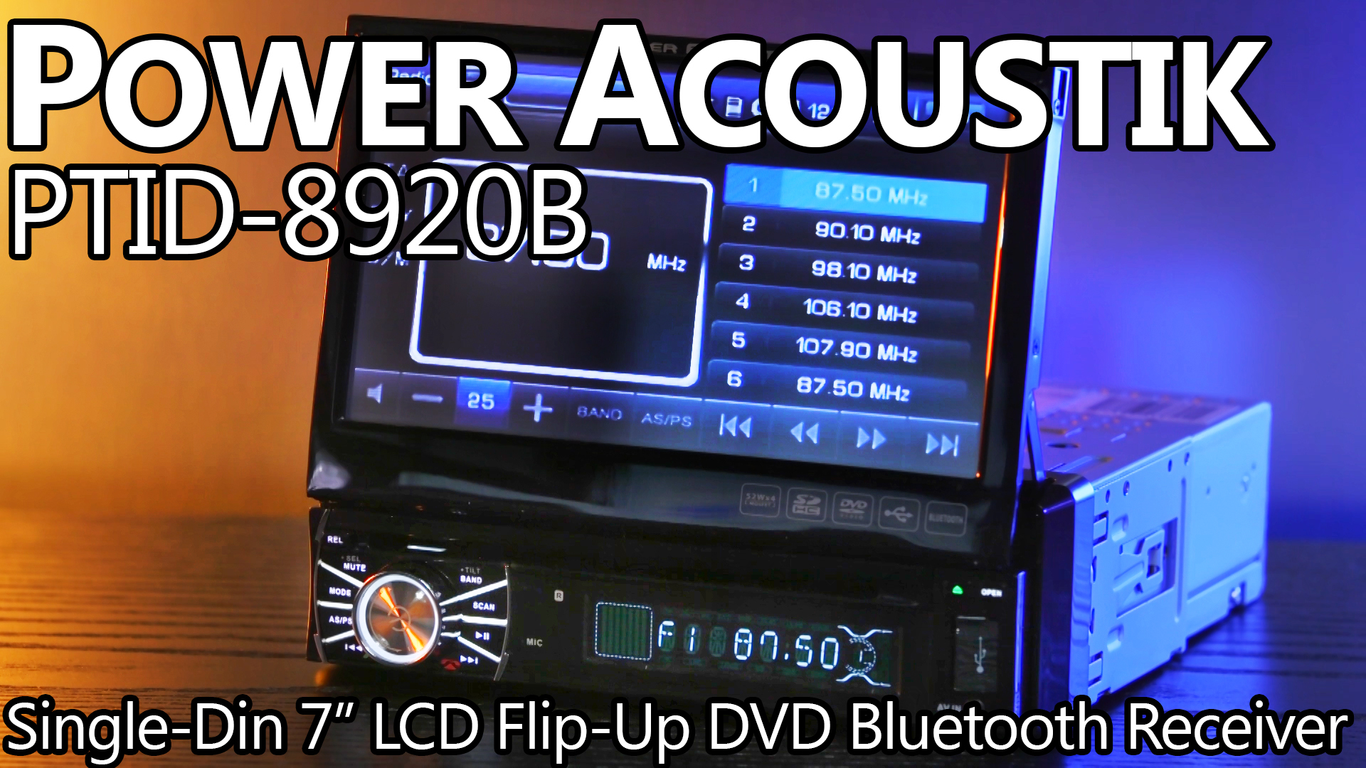 Power Acoustik Single DIN LCD Stereo Review
