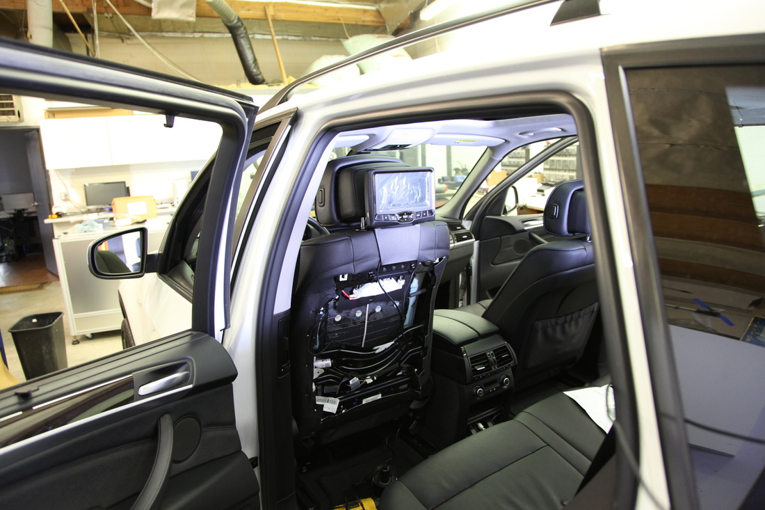 cable installation of dvd headrests