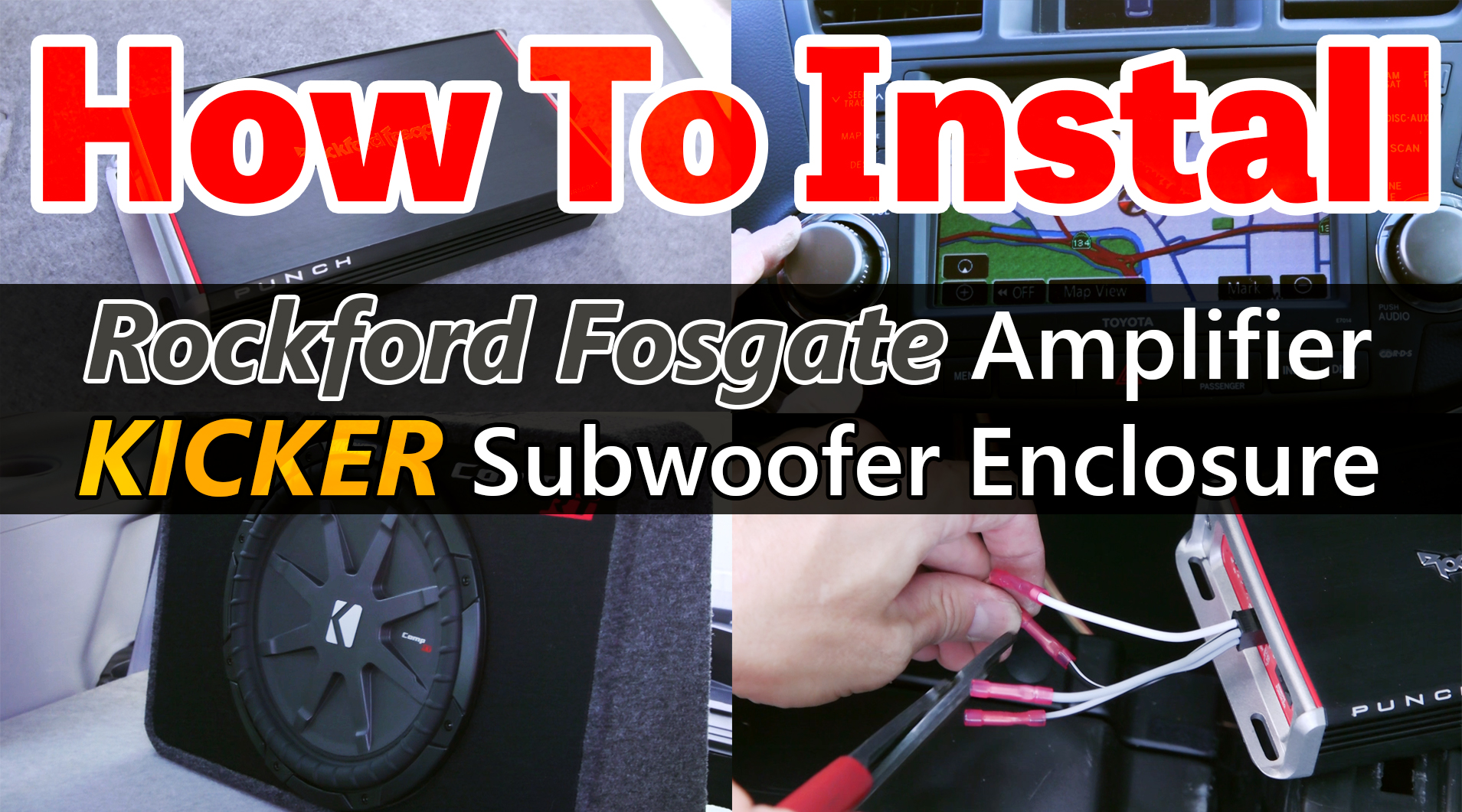 How To Install An Amplifier And Subwoofer In A Car Quality Mobile 10 Inch Rockford Fosgate Sub Wiring Diagram Video Blog