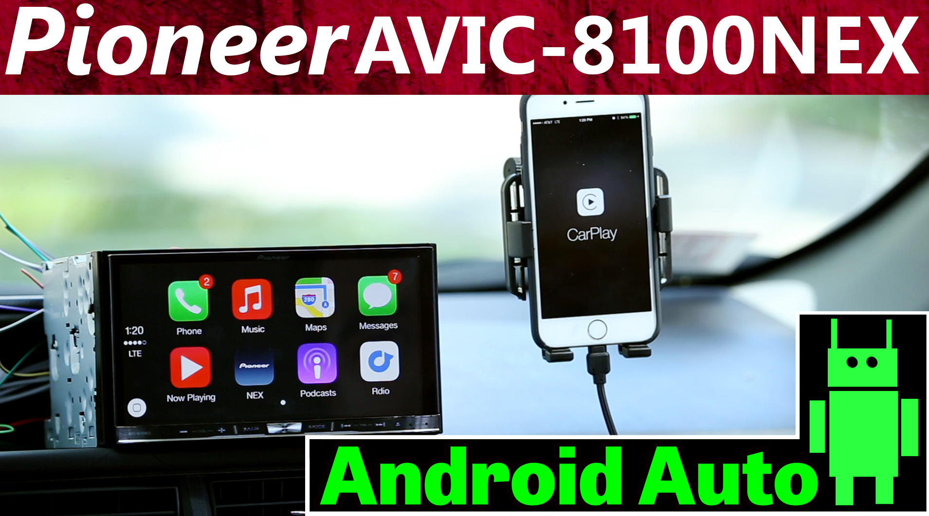 2015 Pioneer AVIC-8100NEX With Android Auto Overview and Review