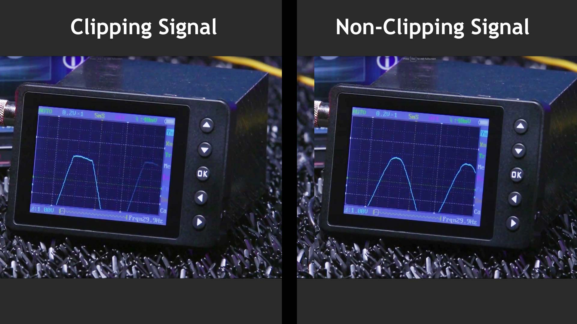 Amp On An Oscilloscope : How to set amplifier gains what is clipping smoke