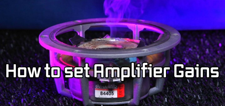 How to set car amplifier gains
