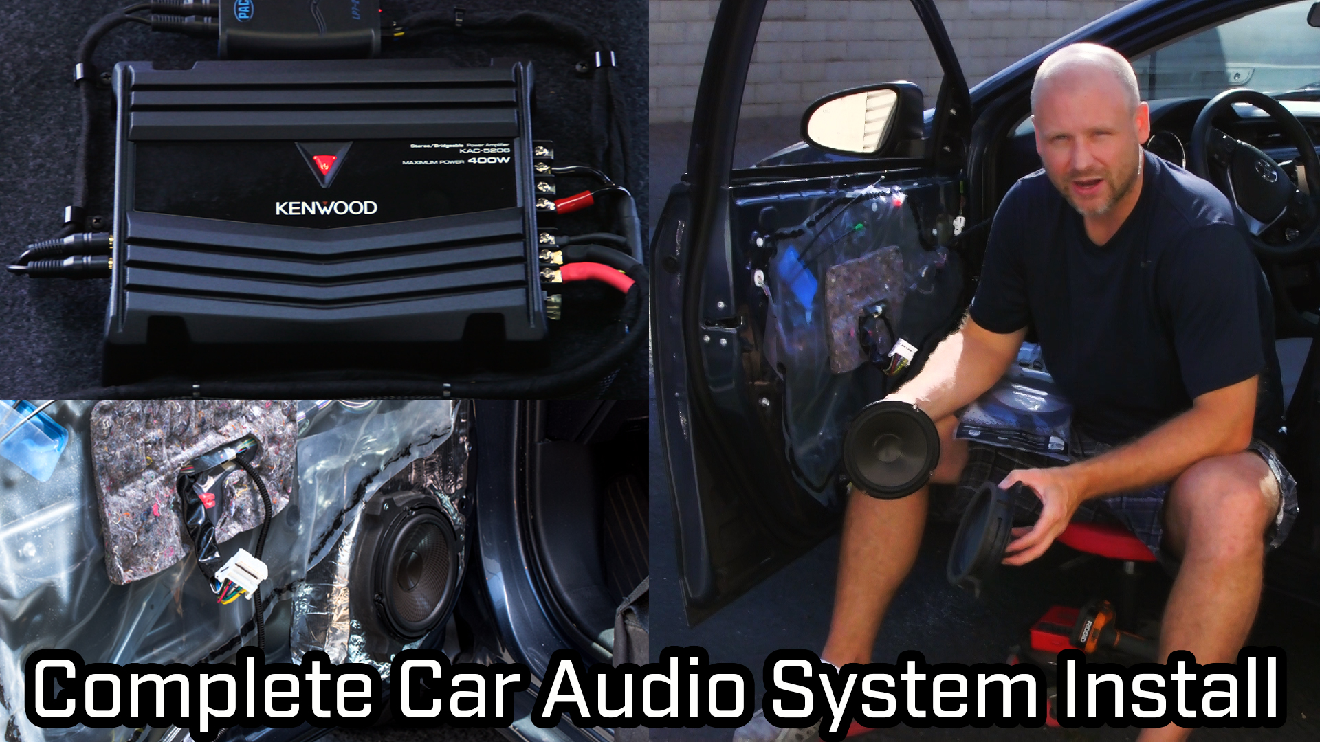How to – Full Car Audio System Installation – Speakers, Subwoofer and Amplifier